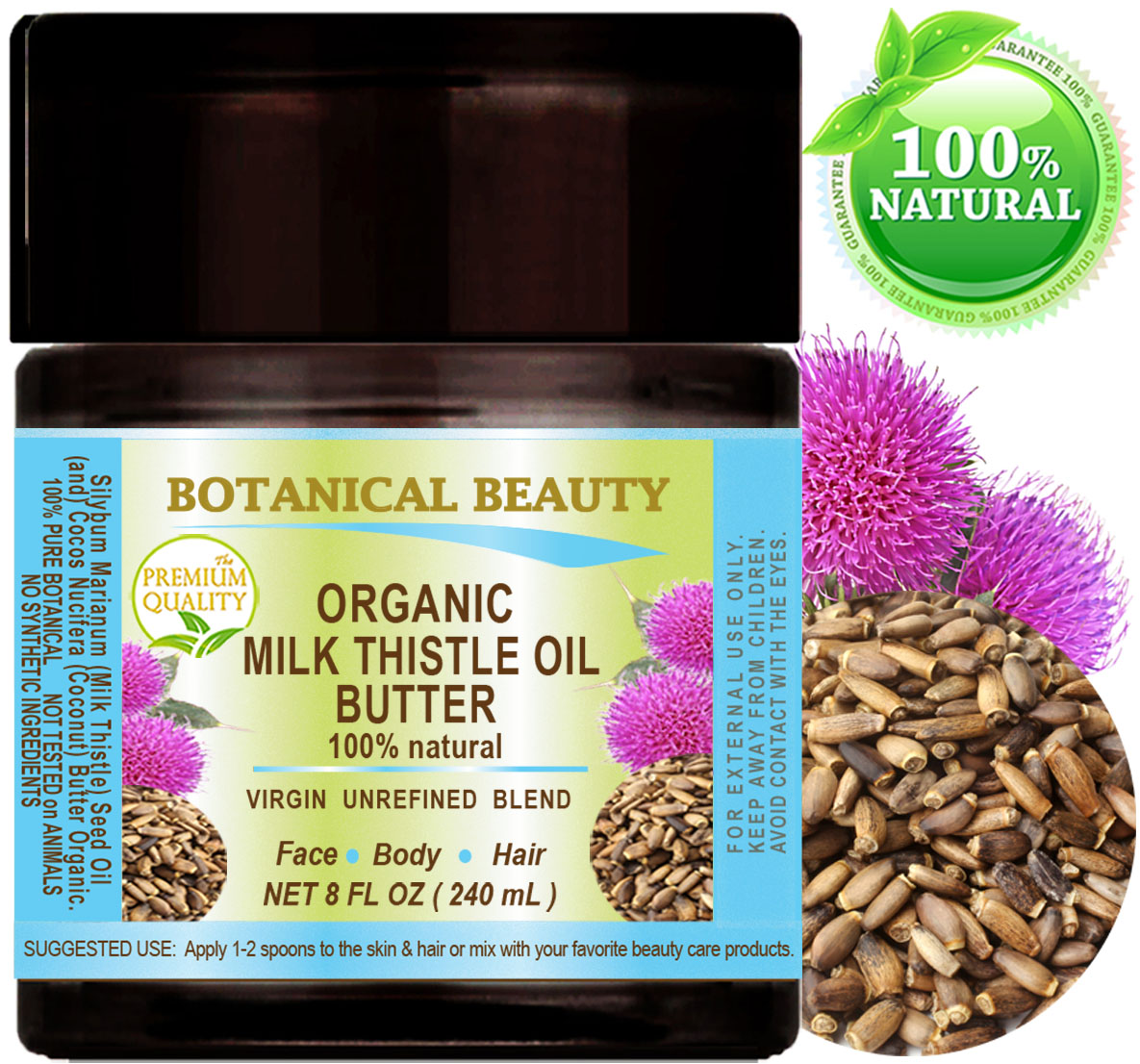 Botanical Beauty Organic Milk Thistle Oil Butter